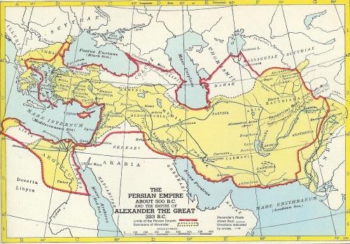 امبراطوريّة الإسكندر المقدوني والإمبراطوريّة الفارسيّة