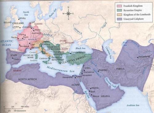 أراضي الدولة الإسلاميّة في عهد الأمويّين